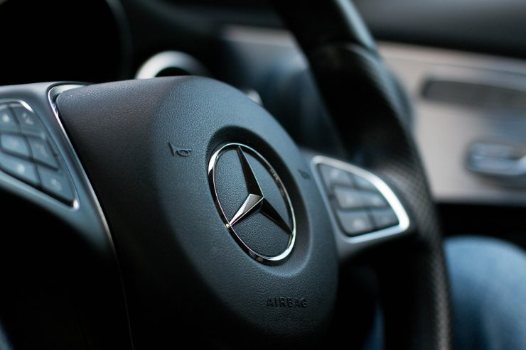 Mercedes-Benz Lenkrad Nahaufnahme