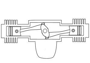 Verschiedene Motorbauarten erklärt: Boxer-Motor.