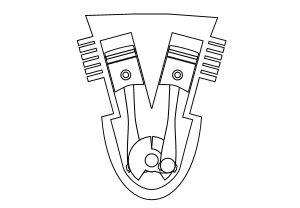 Verschiedene Motorbauarten erklärt: VR-Motor.