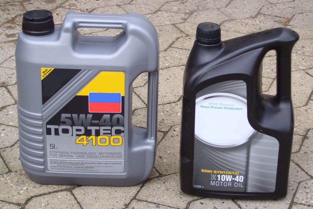 Motoröl Kanister, Mehrbereichsöl 5W-40 und 10W-40
